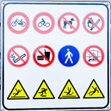 Collection of prohibition signs Stock Images