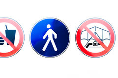 Collection of prohibition signs Stock Photos