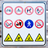 Collection of prohibition signs Stock Photography