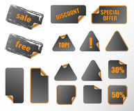 Collection of promotion labels. Royalty Free Stock Photography