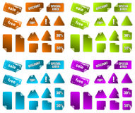 Collection of promotion marketing labels. Stock Photo