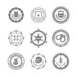 Set of protection badges and labels Royalty Free Stock Photos