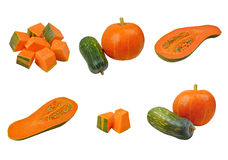 Collection of pumpkin images Stock Images