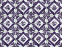 Collection of purple patterns tiles Stock Images