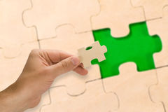 Collection of puzzle Stock Photography