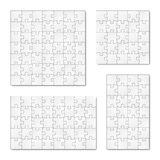 Collection of puzzle templates Stock Images