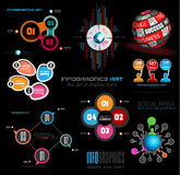 Collection of quality Infographics background. A lot of different templates ready to display your data Stock Photography
