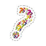 Collection question mark image. Illustration eps 10 Royalty Free Stock Images
