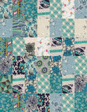 Collection of quilt backgrounds - blue Royalty Free Stock Photo