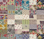 Collection of quilt backgrounds - grey Stock Photos
