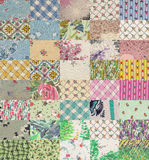 Collection of quilt backgrounds  -  light Stock Photography