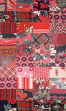 Collection of quilt backgrounds - red Royalty Free Stock Photography