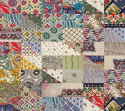 Collection of quilt - triangles Stock Image