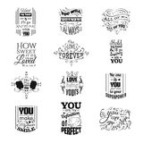 Collection of quote typographical background Royalty Free Stock Photo