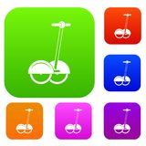Collection réglée alternative de couleur de véhicule de transport illustration libre de droits