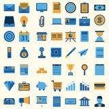 Collection réglée d'icône d'affaires Photos stock