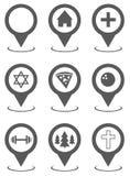 Collection réglée d'indicateur de carte simple illustration de vecteur