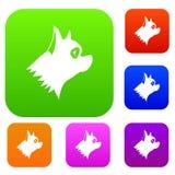 Collection réglée de chien de Pinscher Photos libres de droits
