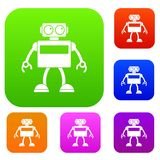 Collection réglée de couleur de robot d'Android Image stock