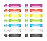 A collection of rainbow blank web buttons Stock Image