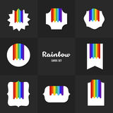 Collection Rainbow cards Royalty Free Stock Image