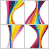 Collection rainbow cards templates Stock Photo