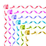 Collection of rainbow colored gift ribbons Stock Image