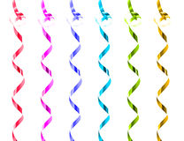 Collection of rainbow colored gift ribbons Royalty Free Stock Photography