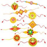 Collection of Rakhi Royalty Free Stock Photography