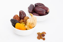 Collection of Ramadan dried fruits for breakfast in Ramadan Royalty Free Stock Photos