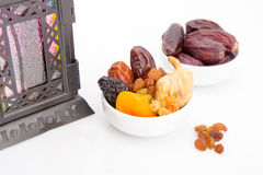 Collection of Ramadan dried fruits Royalty Free Stock Photography