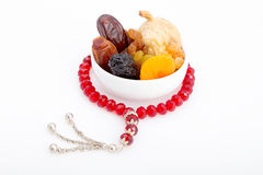 Collection of Ramadan dried fruits Royalty Free Stock Images