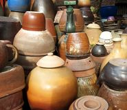 Collection of Random Pottery Stock Photo