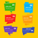 Collection of Raster Abstract Label, Sticker, Tags Stock Images