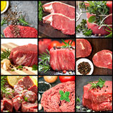Collection of Raw Beef Images stock images