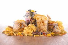 Collection of raw pasta Royalty Free Stock Image