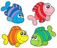Collection rayée de poissons Image libre de droits