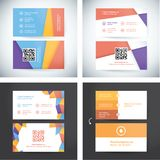 Collection of ready to use business cards. Simple but modern design template royalty free illustration