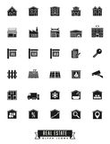 Real estate glyph icons Stock Photo
