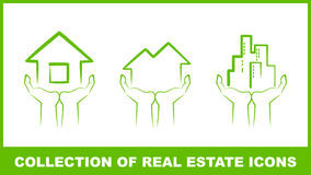 Collection of real estate icon Royalty Free Stock Image