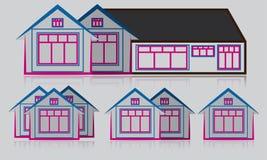 Mega Set Real Estate Logo Building Icon House Home Architecture Symbol vector illustration