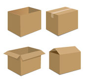 Collection recycle brown box packaging. Royalty Free Stock Image