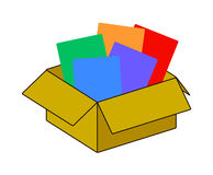 Collection recycle brown box packaging. vector. Illustration stock illustration