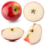 Collection of red apples isolated on the white background Stock Photo