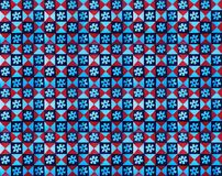 Collection of red and blue patterns tiles stock image