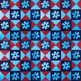 Collection of red and blue patterns tiles royalty free stock photography