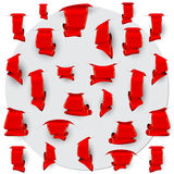Collection of the red bookmarks Royalty Free Stock Image
