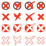 Collection of red crosses Royalty Free Stock Photography