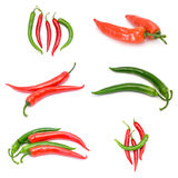 Collection of red and green peperoni Stock Photo
