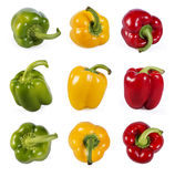 Collection of red, green and yellow capsicum Stock Photo